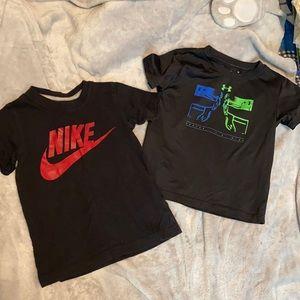 Boys 4T Nike & Under Armour Tees